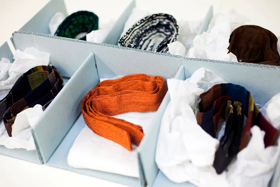 Neatly boxed in an archive at Harvard's Graduate School of Design are six bow ties once owned by celebrated architect Walter Gropius (1883-1969), founder of the Bauhaus school.
