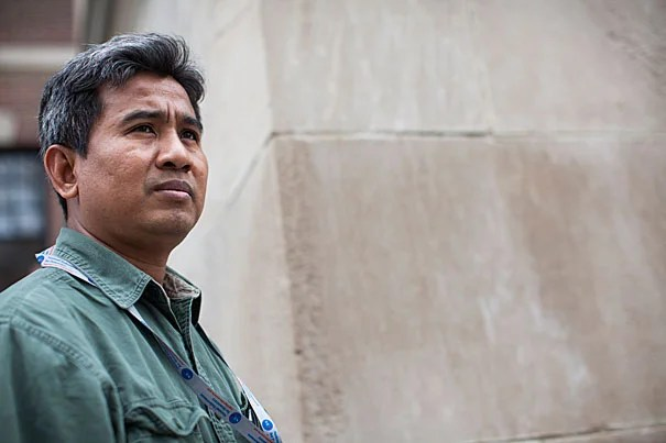 """I am working for history,"" says Scholar at Risk Thet Sambath about his film ""Enemies of the People,"" a documentary of mid- to late-1970s Cambodia. Empathy is Sambath's mantra. ""I am not angry. I do not hate these people,"" he said of the personal side of his investigations."