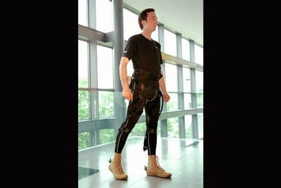 """""""While the idea of a wearable robot is not new, our design approach certainly is,"""" said Wyss Institute core faculty member Conor Walsh. The smart suit fits under clothing and could help soldiers walk farther, tire less easily, and carry heavy loads more safely."""