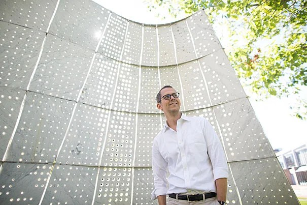 At Harvard for nine days, Graduate School of Design visiting fellow Robert Hammond made time between lecturing, student meetings, and an open conversation with his faculty host, Professor Jerold Kayden, to stroll around and discuss the University's open spaces.