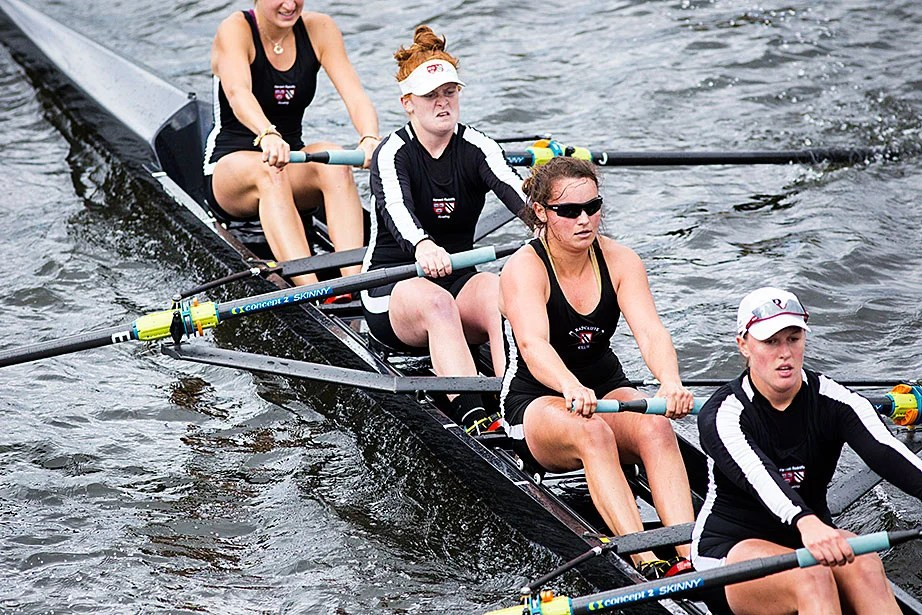 The women give it their all during the Head of the Charles.