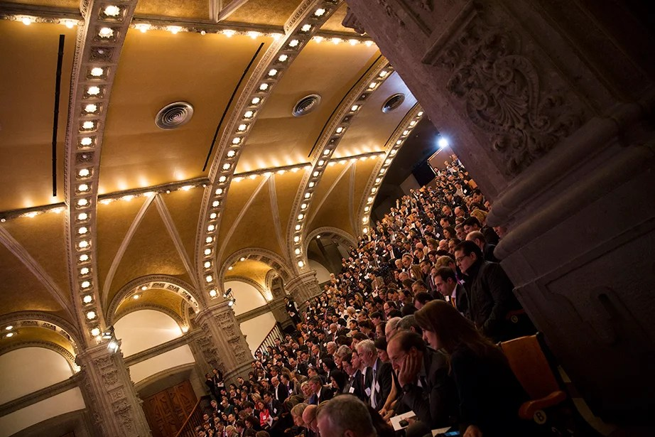 """A view of the audience during """"Your Harvard: Mexico."""" Stephanie Mitchell/Harvard Staff Photographer"""