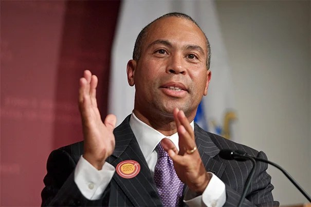 Former Massachusetts Gov. Deval L. Patrick, who recently concluded two terms, will be the principal speaker at the Afternoon Exercises of Harvard's 364th Commencement in May.