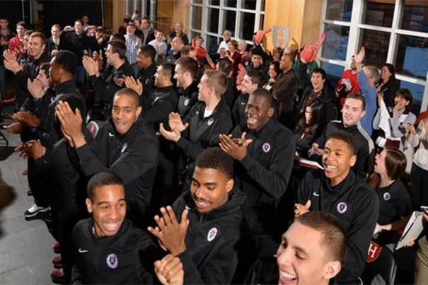 Players and fans react to the NCAA tournament selection on Sunday night. The Crimson will face North Carolina in the NCAA tournament second round on Thursday.
