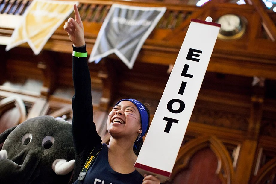 Shori Hijikata '16 from Eliot House grooves to the music. Stephanie Mitchell/Harvard Staff Photographer