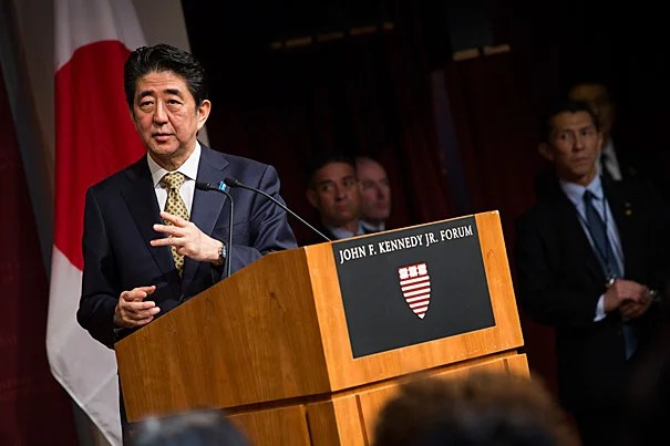 """I have tenaciously engineered a succession of reforms coming one after another, and I will be fearless going forward,"" said Japan's Prime Minister Shinzo Abe. His visit was part of a strategic eight-day state visit to several U.S. cities that will culminate in a speech before a joint session of Congress in Washington, D.C., on Wednesday, the first ever by a Japanese prime minister."