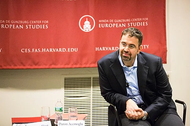 Turkey appears to be moving away from the path toward reforms that helped to fuel an economic resurgence there in the early 2000s, economist Daron Acemoğlu told his Harvard audience as the keynote speaker in the inaugural event of the Özyeğin Speaker Series at Harvard's Minda de Gunzburg Center for European Studies.