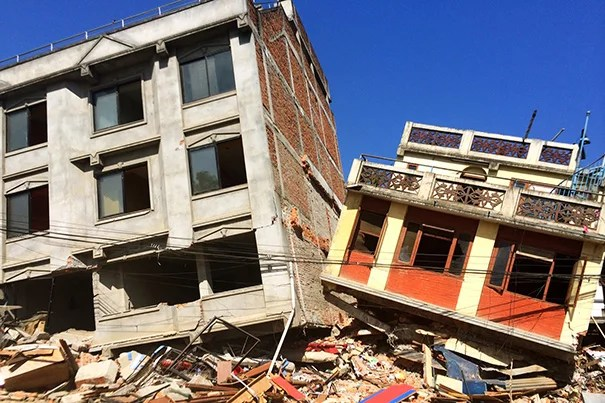 """""""One week after the earthquake, there is evidence of destruction across the city. Some areas have remained unharmed, while others are devastated. Many Nepalis sleep in tents, either because they lost their homes or for fear of staying in their homes during an aftershock,"""" said Lara Phillips (photo 2), an instructor in emergency medicine at Harvard Medical School who was in Nepal during the devastating earthquake."""