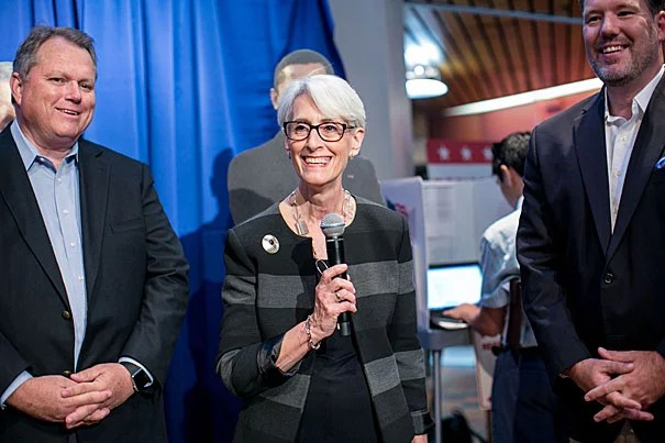 Wendy Sherman, who was the lead U.S. negotiator in the nuclear deal with Iran,  was welcomed by the Institute of Politics at Harvard Kennedy School. As a resident fellow, Sherman will teach a study group on negotiation and diplomacy this semester.