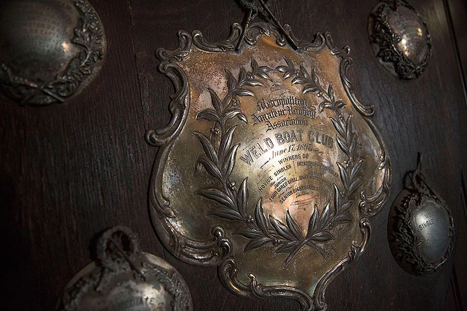 Details of a Weld Boat Club trophy from 1897.