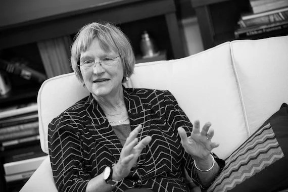 Harvard University President Drew Gilpin Faust is pictured in her Massachusetts Hall office at Harvard University. Stephanie Mitchell/Harvard Staff Photographer