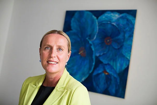 Iris Bohnet is Professor of Public Policy at the Harvard Kennedy School and the director of its Women and Public Policy Program. She is pictured in Taubman Building at Harvard University. Stephanie Mitchell/Harvard Staff Photographer