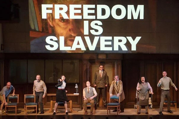 "Orwell's novel ""1984"" tapped into mid-century ""fears about the combination of new technologies and authoritarian secretive politics, and how that is going to control thought and lives,"" said Ash Center director Anthony Saich, who will lead a discussion on social media in China on March 2. The A.R.T.'s stage adaptation of ""1984"" runs through March 6."