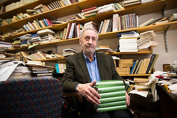 "Harvard Professor Stephen Owen spent eight years translating the complete works of Chinese poet Du Fu. ""I didn't believe it until I held it in my hand,"" he admitted. The finished volumes weigh nine pounds and comprise 3,000 pages."