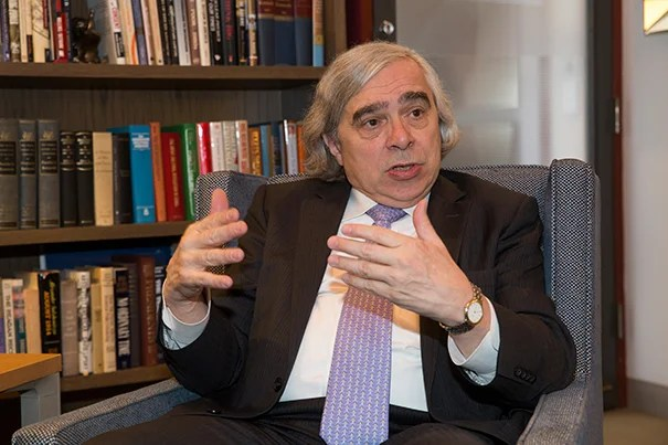 U.S. Secretary of Energy Ernest Moniz discussed his unusually powerful part in the Iran deal and how science can — and should — be part of diplomatic efforts to solve major global challenges such as nuclear disarmament and climate change.