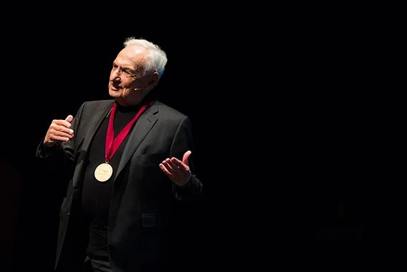 """Getting a medal from Harvard is special,"" Frank Gehry said, ""and calling it an arts medal is a big deal."""