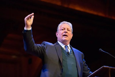 Al Gore brought a dose of optimism about climate change to Harvard, saying the problems are severe, but the solutions are emerging. The former vice president cited the adoption of renewable energy — mainly wind and solar power — as reason for hope.