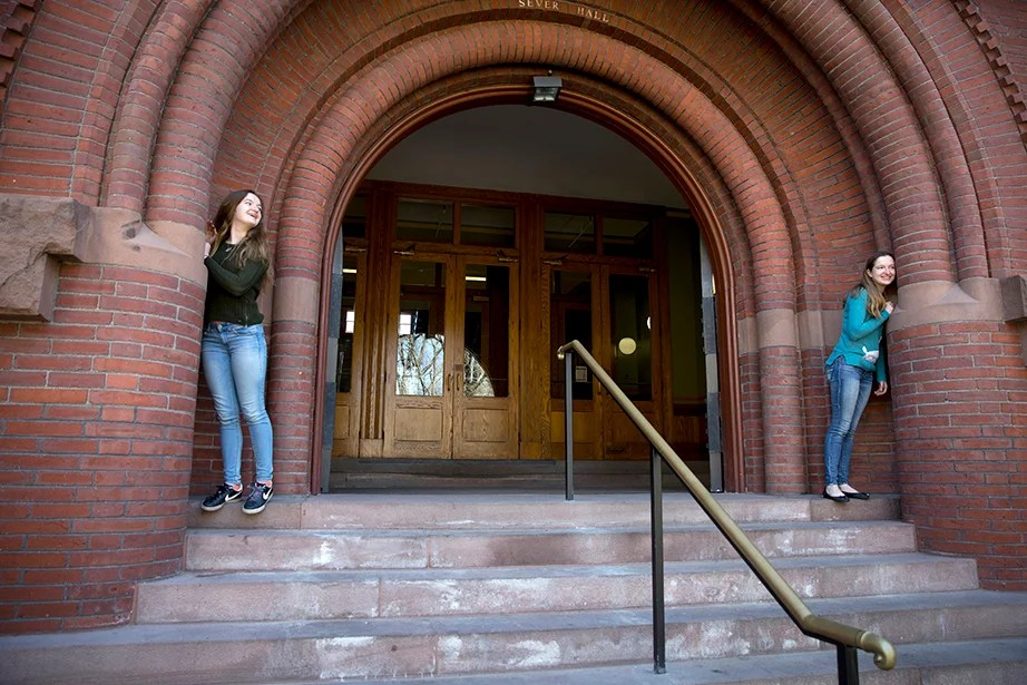 "The O'Brien twins hail from nearby Brighton, Mass., and will live in separate undergraduate Houses next year. Grace says, ""I think being a twin has made my experience at Harvard both easier and harder. We are very close, so it's nice to have someone around who will always be there for me. However, throughout high school and elementary school, we were treated almost like the same person, which was frustrating. So we decided to lead completely different lives at Harvard."" Rose Lincoln/Harvard Staff Photographer"