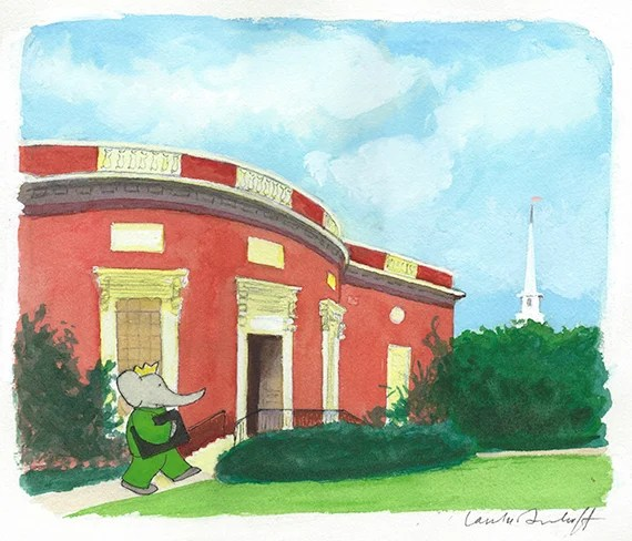 Babar Brings his ABC's to Houghton Library