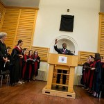 Jonathan Walton, Plummer Professor of Christian Morals, thanks the congregation for coming for the first morning prayer service of the semester.