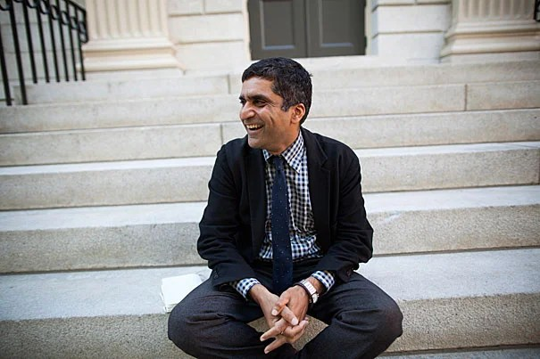 """""""My goals are informed by the College's mission of educating citizens and citizen-leaders for our society,"""" said Danoff Dean of Harvard College Rakesh Khurana."""