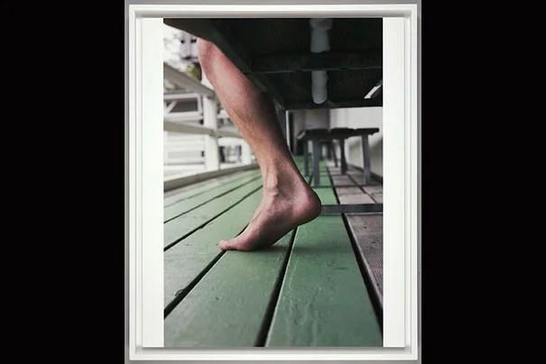 "Wolfgang Tillmans, ""Karl, Utoquai 4,"" 2012-2013. Inkjet print on paper mounted on aluminum in artist's frame. Harvard Art Museums/Busch-Reisinger Museum, Purchased through the generosity of the German Friends of the Busch-Reisinger Museum. © Wolfgang Tillmans"