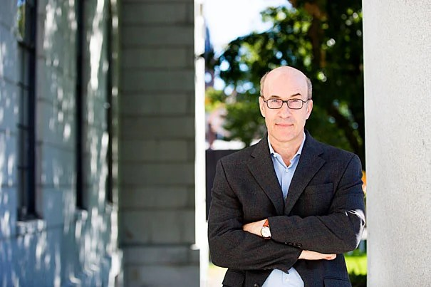 Thomas D. Cabot Professor of Public Policy and Professor of Economics Ken Rogoff speaks about his favorite object, the Gutenberg Bible on display in Widener Library. He is pictured outside the Littauer Building at Harvard University. Stephanie Mitchell/Harvard Staff Photographer