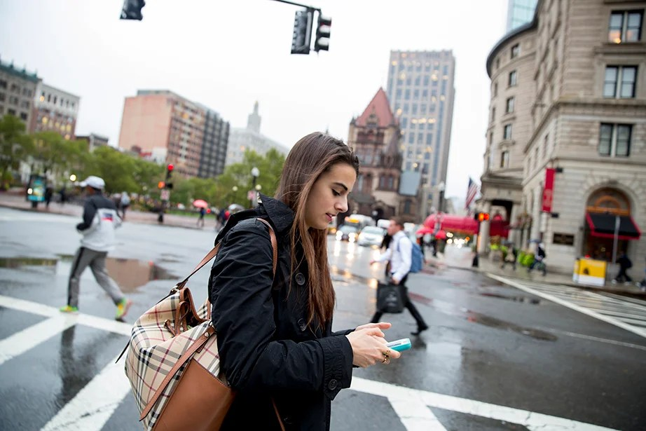 On a different morning, Lender heads through Copley Square to attend Mayor Martin Walsh's speech to the Greater Boston Chamber of Commerce at the Westin Hotel. She has worked on mayoral projects such as Imagine Boston 2030, the city's first major citywide planning effort in 50 years, wherein she has created GIS maps, participated in community engagement events, and assisted with internal coordination efforts.