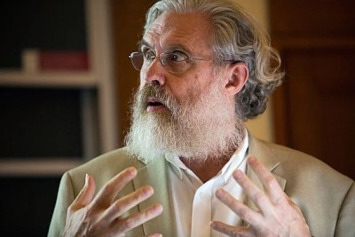"""George Church, Robert Winthrop Professor of Genetics, spoke on the development of synthetic embryos that stand to make the 14-day rule irrelevant. """"[T]here's essentially no limit to the technology,"""" said Church, """"so we need to focus on ethics and humanity."""""""