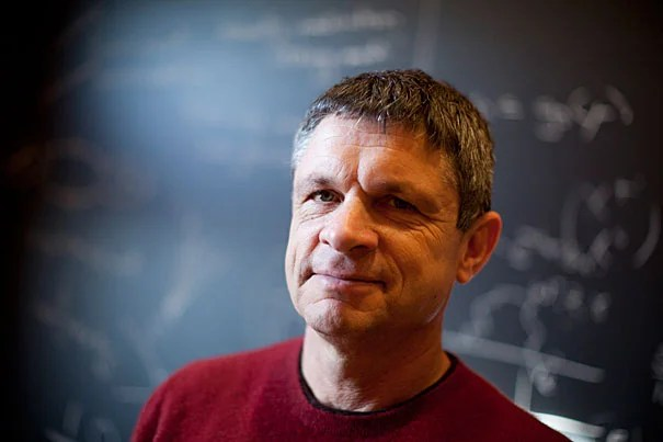 Harvard Physics Professor Andrew Strominger is pictured in Jefferson Hall at Harvard University. Stephanie Mitchell/Harvard Staff Photographer