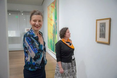 Ewa Lajer-Burcharth (left), William Dorr Boardman Professor of Fine Arts, and Elizabeth Rudy, Carl A. Weyerhaeuser Associate Curator of Prints, worked on a new exhibit featuring drawings that were organized with the help of two University seminars.