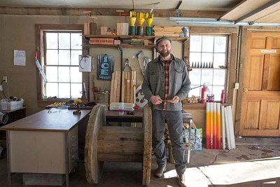Charles Bullard Fellow David Buckley Borden, M.L.A. '11, is creating art based on arboreal science to heighten awareness and discussion of conservation and ecology during his fellowship at the Harvard Forest.