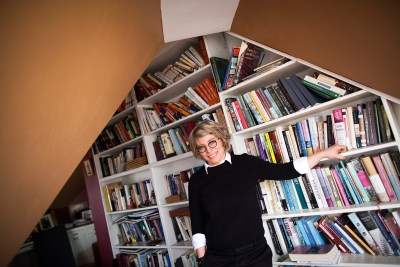 David Woods Kemper '41 Professor of American History and Harvard College Professor Jill Lepore is featured in the Decisions and Revisions writing series. She is pictured in her home in Cambridge.
