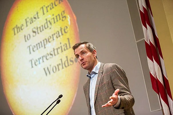"""These planets really might have life as we know it on them,"" said Professor David Charbonneau, who outlined the promising search for life on exoplanets at the Origins of Life's 10th anniversary symposium."