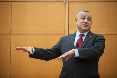 """""""I am a gay man. I am a United States Marine. … I am also disabled and I am also Hispanic,"""" Eric Alva told his audience at the Faculty of Arts and Sciences' Diversity Dialogue """"Overcoming Obstacles: Managing Complex Intersectionality."""""""