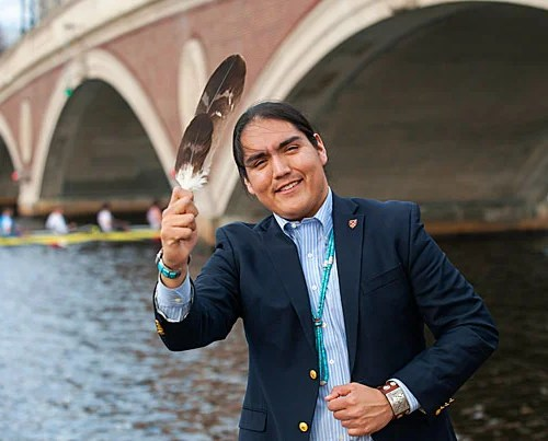 Damon Clark '17 is a Native American social studies concentrator. After graduation, he will travel to New Zealand, where he will spend a year studying the Maori indigenous people.