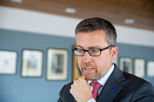 """Carlos Moedas, European Union Science Commissioner, spoke about science in the """"post-truth"""" era and the importance of respecting evidence in a democracy. """"If you want to do good policymaking, if you want to make good decisions, [they] have to be based on evidence, based on facts."""""""