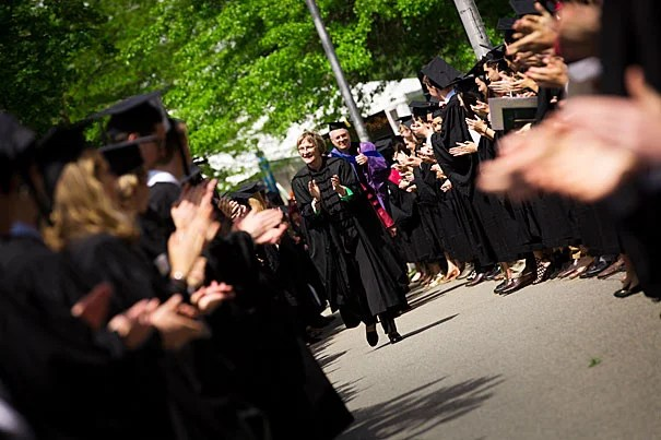 Presentation of the honorary degrees is held during Morning Exercises on Commencement Day.