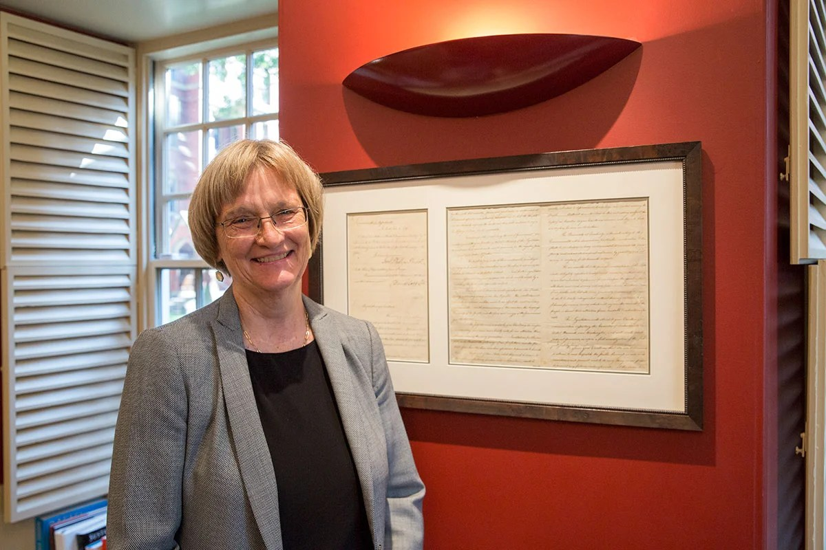 During her last year as Harvard president, Drew Faust plans to focus on making the case for the University's needs and values in Washington, ensuring progress on inclusion and belonging for all, completing The Harvard Campaign, and nurturing development of the emerging Allston campus.