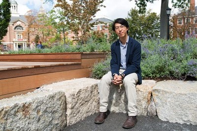 """Harvard College alum and GSD student John Wang's """"100+ Years at 73 Brattle""""  is now installed as the winner of the third Radcliffe Institute Public Art Competition."""
