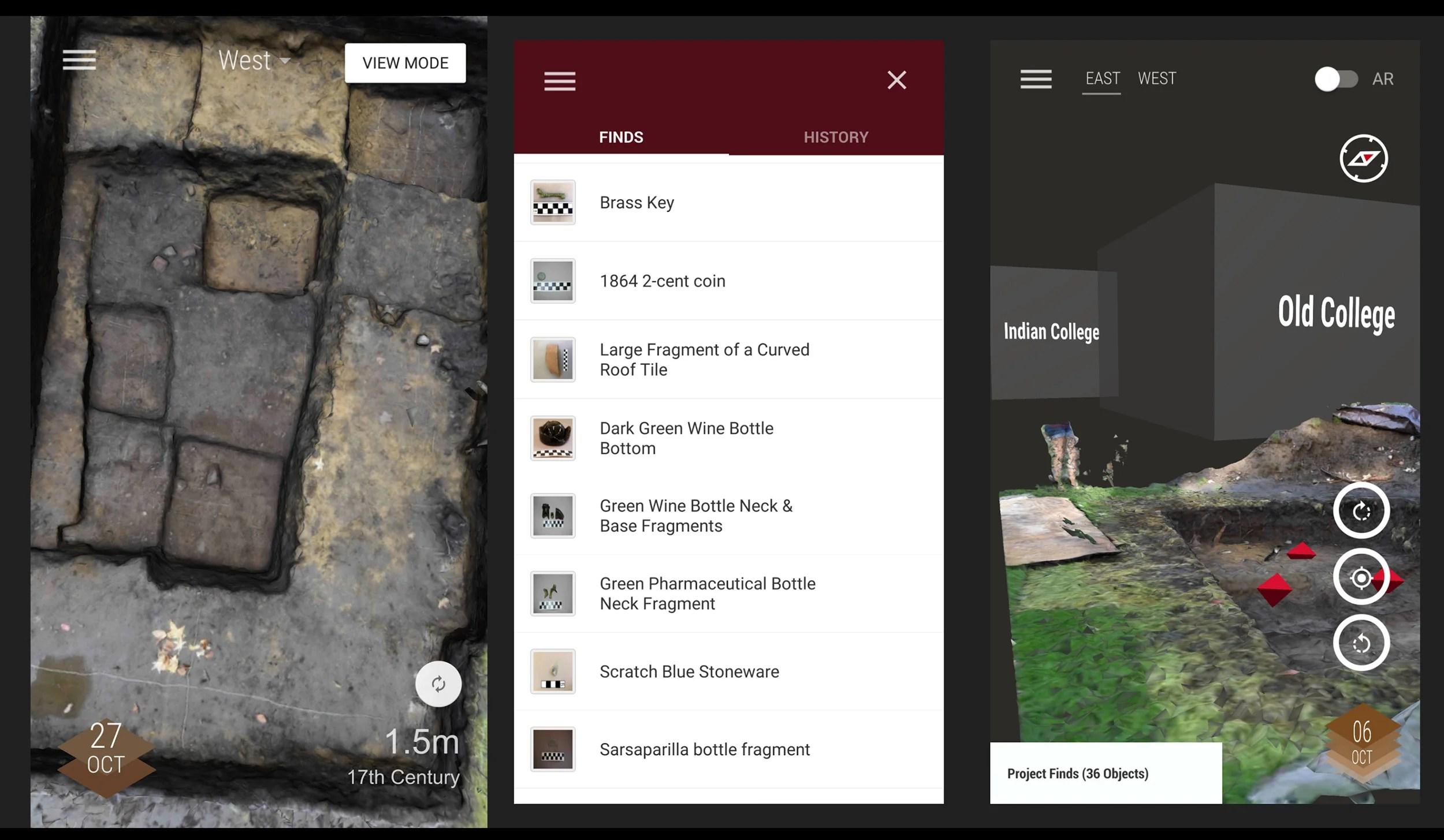 Screen shot of Yard App