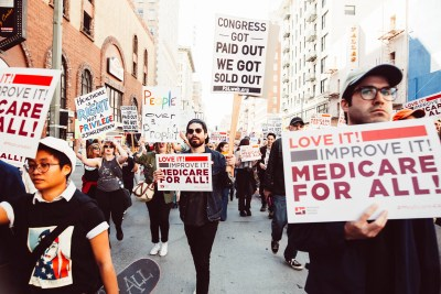 Medicare for All rally Los Angeles Molly Adams