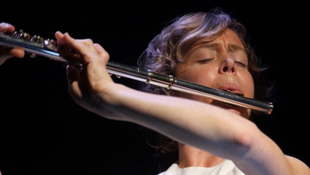 Claire Chase plays flute.