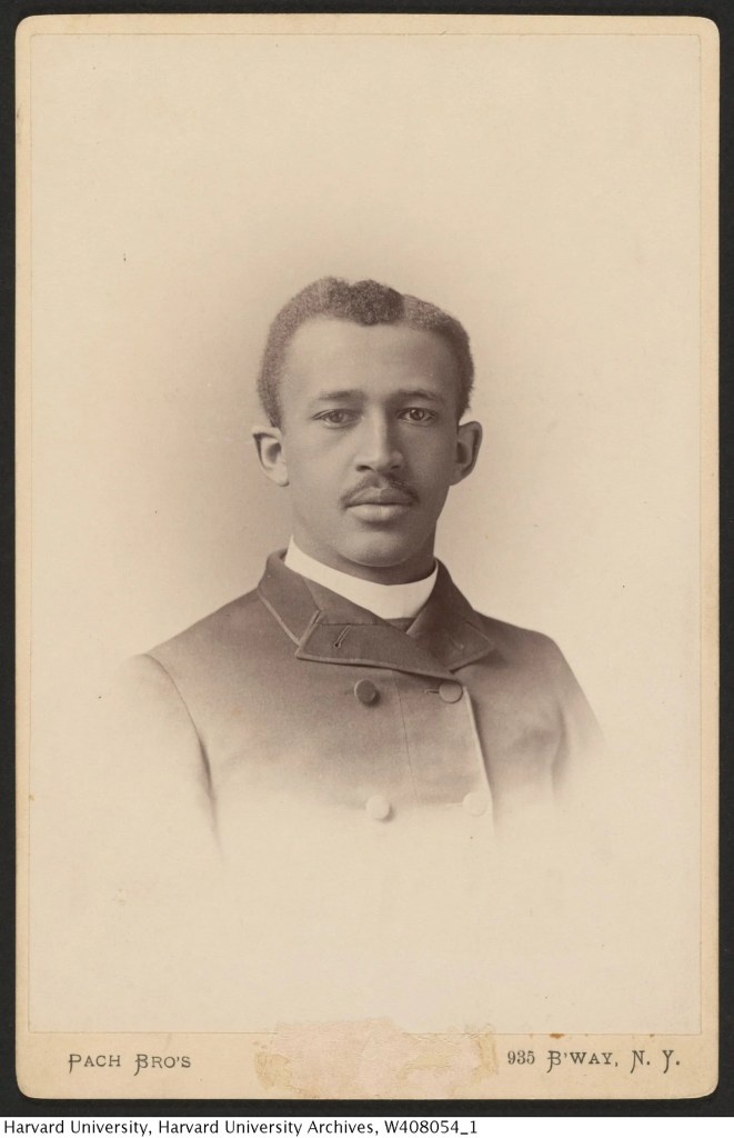 W. E. B. Du Bois photograph from the Harvard College Class of 1890 Class Book, 1890.