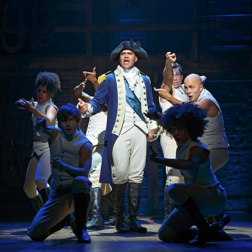 "Christopher Jackson as George Washington in ""Hamilton."""