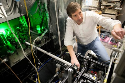 Using a 53-year-old electromagnet, Ron Walsworth has developed a system that uses atomic-scale impurities in diamonds to read nuclear magnetic resonance signals produced by samples as small as a cell.