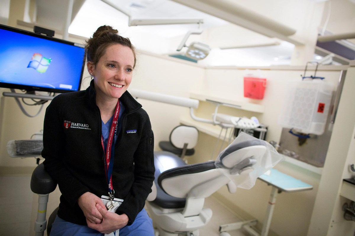 Lindsay D'Amato took a circuitous route from Missouri to the Harvard School of Dental Medicine, via graduate school in California, a two-year Peace Corps stint in Panama — and a detour for brain surgery.