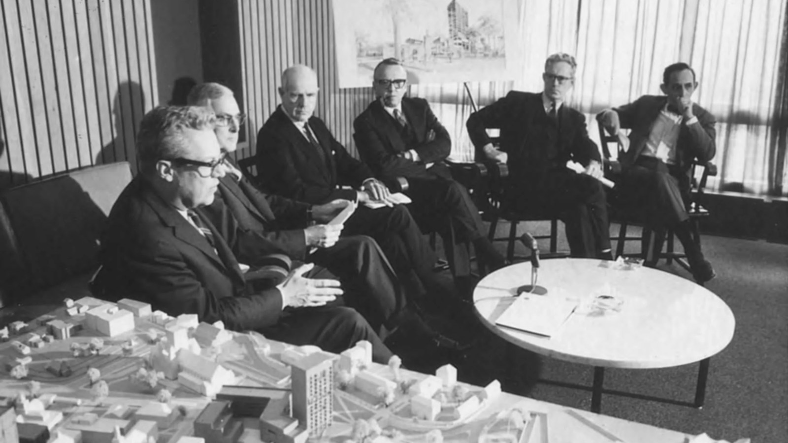 Press conference for A Major Science Program for Harvard College, Nov. 8, 1967.