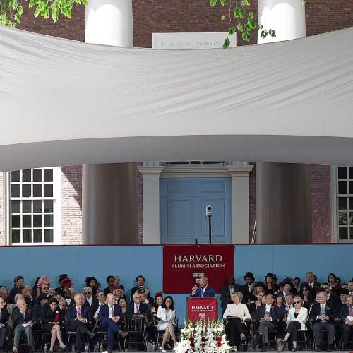 John Lewis speaks to Harvard graduates.