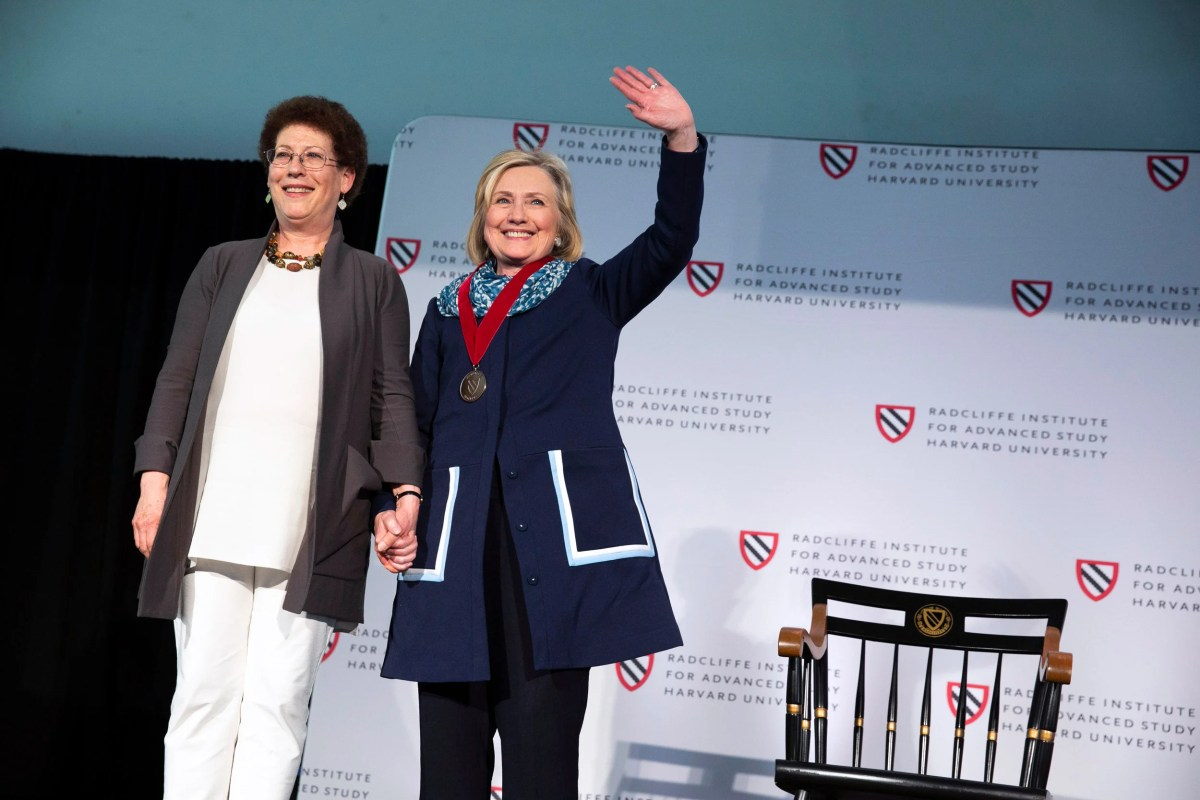 hillary clinton receives radcliffe